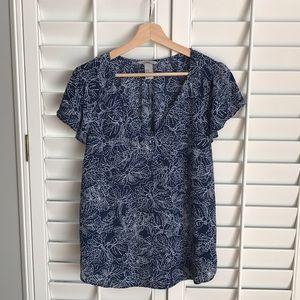 H&M v-neck navy blouse